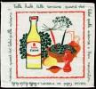 Serviette Publicitaire En COTON - HUILE CALVE - Si Tu Les Veux .... Fais Tes Fritures à L´Huile CALVE - Company Logo Napkins