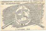 15Ve   CARTE INVITATION OU ENTREE CONGRES PHILATELIQUE DE BRUXELLES 1946 - Stamps (pictures)