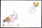 Ireland 2005 Scott #1586 FDC 48c Parrots - Love - FDC