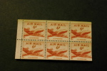 United States C39a Booklet Pane Of 6 MNH Aircraft Airplane DC-4 MNH 1949 A04s - Air Mail