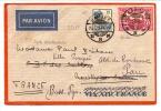 INDE NÉERLANDAISE YVERT N° 153 + PA N°11a OBL TÀD GAROET 1935 VIA MARSEILLE - Indes Néerlandaises