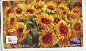 Carte Prépayée Japon * Fleur TOURNESOL (862) SUNFLOWER  * Japan Flower Prepaid Card * Blume Karte * - Blumen