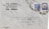 5385# BRESIL BRASIL LETTRE VIA AEREA PAR AVION Obl RIO JANEIRO 1938 Pour PARIS - Brésil