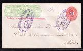 T)1889,WELLS FARGO PACHUCA TO MEXICO,NUMERAL 10c,PARA CARTAS ½ Oz EN LA REPUBLICA MEXICANA EXCLUSIVAMENTE,RARE COLOR.- - Mexico