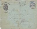 MARCOPHILIE,LETTRE HOTEL DES TROIS DAUPHINS,GRENOBLE EN 1897,cachet Isere,macon Au Montcenis,ain - Postmark Collection (Covers)