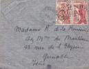 MARCOPHILIE,FRANCE COLONIES,CAMEROUN,LETTRE,1950,par Avion,destination Grenoble,rue De L'élisée,isere - Cameroun (1915-1959)
