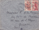 MARCOPHILIE,FRANCE COLONIES,CAMEROUN,LETTRE,1950,par Avion,destination Grenoble,rue De L'élisée,isere