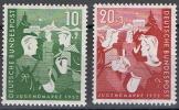 TIMBRE ALLEMAGNE FEDERALE 1952 - N° 39 ET 40 Y&T - SERIE NEUF AVEC GOMME  ET CHARNIERE - OEUVRES POUR LA JEUNESSE - Unused Stamps