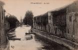 CPA, Moselle, Vic Sur Seille, Seille, Barques, Balcons Séchoirs, Pont - Altri Comuni