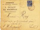 Lettre Entreprise De Travaux Publics,DUGOT,LA ROCHELLE 1888,sergent,hébergement,génie,cachet Charente Inferieure,vendée - Marcophilie (Lettres)