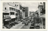 R Photo Panama Avenida Central Foto Flatau American Cars, Coca Cola, Tropical Radio, Stamps - Panama
