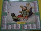 Almanach Du Facteur 1997 - LA POSTE - DOUBS 25 - Illustrations Couverture SLIDE WOOD RIVER Enfants Dans La Neige Animaux - Calendarios