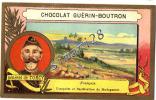 CHROMO - CHOCOLAT GUERIN-BOUTRON - GENERAL DE TORCY FRANCAIS CONQUETE ET PACIFICATION DE MADAGASCAR - DIM 6,2 X10,2 - Guérin-Boutron