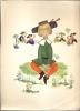 Chromo Illustr. (Josette Boland ) - Jongen Met Grassprietje En Dansende Koppels - Découpis