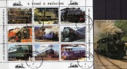 Lokomotiven Der Schweiz 1997 Thomas-/Prinzen-Insel 1730/8+ Block 366 O 38€ Eisenbahnen Loks Bloc Train Sheet Of Sao Tome - Sao Tome Et Principe