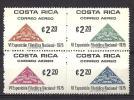 Costa Rica, Year 1075, Mi 919-924, Block Of 4, Costa Rica 75, MNH ** - Costa Rica