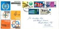 1969  General Anniversaries :ILO, Europa, Alcock & Brown Flight, England-Australia Flight Trident Cachet London Canc - FDC