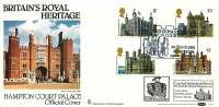 1978  Historic Buildings  Hampton Court Palace Benham Cover Special Handstamp  Carried By Hydrofoil - FDC