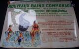 affiche bruxelles SCHAERBEEK inauguration 1957 avec Bombard sign�e