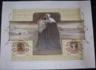 affiche bruxelles ANDERLECHT �cole 1915 belle illustration
