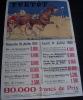 affiche course de chevaux hippisme YVETOT 1932 sign�e JW