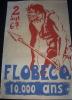 affiche 1967 FLOBECQ homme pr�histoire 100x65cm