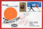 Japon (Japan) -  First Flight  DC-10 -   Tokyo-Bruxelles (Sabena) 1974 - 1926-89 Empereur Hirohito (Ere Showa)