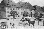 LE LOCLE (Neuchatel - Suisse). La Place Du Marché Et Hôtel Des Trois Rois. - NE Neuchatel