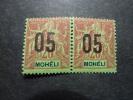 MOHELI, Année1912, PAIRE De YT N° 18 Neufs Sans Trace Charnière, Très Bon état - Mohéli (1906-1912)