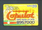 SURINAM  -  Remote Phonecard As Scan (Subject To Minor Creasing) - Suriname