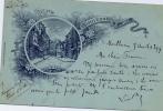 DEPT  03  SOUVENIR DE MONTLUCON  Carte Litho MAUGENEST Et MITTERAND   En 1899 - Montlucon