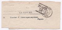 Bande Journal De Papeete Taiti 11 Juil 1884 + Griffe De Port Payé TAHITI / 5C