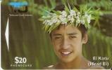 2 CIDO TARJETA DE LA ISLA COOK DE UN JOVEN - Cook Islands