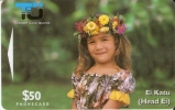 2 CIEO TARJETA DE LA ISLA COOK DE UNA NIÑA - Islas Cook