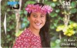 2 CICO TARJETA DE LA ISLA COOK DE UNA CHICA - Cook Islands