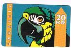 DANIMARCA (DENMARK)  -KTAS (MAGNETIC) - 1993 PARROT  CODE 1003  1.93 - 12.94    - USED °  -  RIF. 4053 - Pappagalli