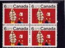 CANADA 1970, # 525i,  CHRISMAS CENTER BLOCK IDENTICAL STAMPS M NH - Blocs-feuillets