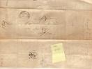 134  T15 Genolhac Gard 1849  Sur LAC Taxe Tampon 2 Décimes - 1801-1848: Precursors XIX