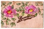 """Postcard- """"Remembrance"""" - Cherry Blossom -Sachet Card -posted 1906(2289) - Souvenir De..."""