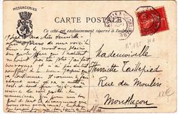 PORT SAÏD (EGYPT) - LIGNE MARITIME FRANCAISE: LIGNE N PAQUEBOT N°8 - CARTE POSTALE Pour MONTLUCON - 1915-1921 Protectorat Britannique