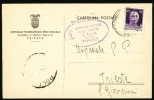 1943 Italy Postal Card.  (G15b018) - Stamped Stationery