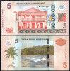 SURINAME 5 DOLLARS 2010 P NEW UNC - Suriname