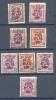 Belgie - Belgique Ocb Nr : 315 - 316 , 333 - 334 , 375A - 376 , 455  Used (zie  Scan) - 1929-1937 Heraldic Lion