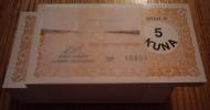UNC MONEY COUPON FOR HOT MEAL IN COMPANY Litokarton - 5 KN (bunch Of 100 Coupons) , Osijek, Croatia - Croatia