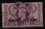 Opt. Bahrain Used 1948, Olympics, 6a On 6d Purple - Bahrain (...-1965)