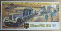 RARE MAQUETTE AIRFIX HO BOITE 88 Mm FLAK GUN & TRACTOR 1973 FIGURINE WWII - Small Figures
