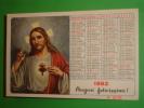 """Calendarietto Anno1962 - Omaggio Ai Benefattori """"Casa Del Sacro Cuore Di TRENTO"""" Santino A.L.M.A. - Tamaño Pequeño : 1961-70"""