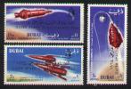Space -espace- Dubai PA 55-57** - MNH - Surchargés - Dubai
