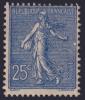 25c Semeuse Lignée Neuf ** Sans Charnière *A VOIR* (Y&T N° 132a , Cote: 240€) - 1903-60 Semeuse Lignée