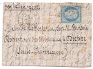 """BALLON MONTE , """"Le Daguerre"""" Pour Dieppe, Signé Robineau - Marcophilie (Lettres)"""